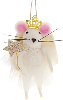 CODY FOSTER & CO. Hand Crafted Wool Angel Mouse Christmas Tree Ornament