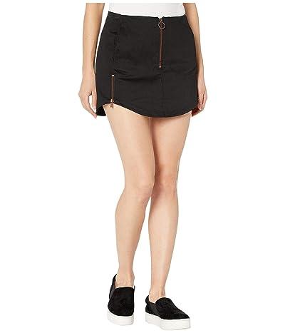 Hurley Sueded Zip Skirt (Black) Women