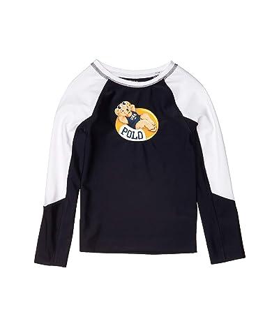 Polo Ralph Lauren Kids Pool Bear Stretch Rashguard (Little Kids) (Hunter Navy) Girl