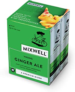 Mixwell Young Ginger Ale - Premium Mixer for Drinks - Made with Organic and Natural Ingredients - 12 Fl Oz Can (4 Pack)