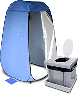 メテックス 簡易トイレ マルチカラー ワンタッチルーム/96×96×高さ13.5cm(収納時51×5)cm、インスタントトイレ/42×39×35.5(収納時:42×39×6.5)cm