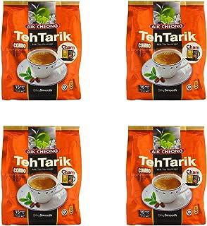 Aik Cheong Teh Tarik ミルク紅茶 飲料チャム(ミルクティー+ホワイトコーヒー)シルクのように滑らか マレーシアから輸入 (10x15 サシェ)