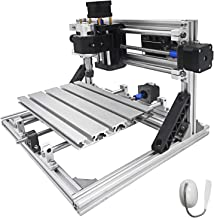 Mophorn CNC Machine 2418 Grbl Control CNC Router Kit 3 Axis PCB Wood Carving Milling Machine 240X180X40MM with Er11+ 5MM Extension Rod + Table Lamp