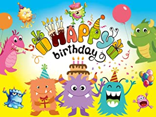 Monster Backdrop | for Boy | Girl | Birthday Party | Banner Photography Background Kids