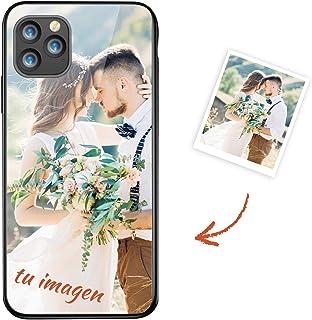Oihxse Funda Personalizada para iPhone 12 Pro Carcasa Protetion Vidrio Templado Dura Panel Trasero Silicona TPU Marco Case...