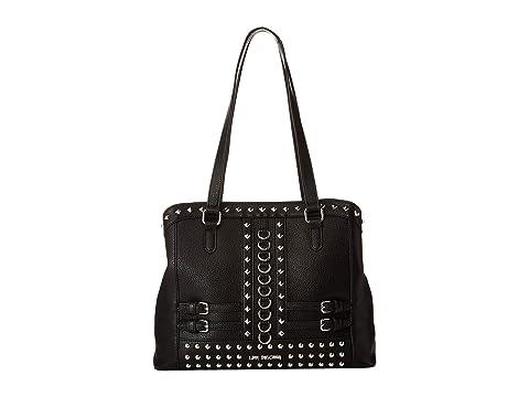 LOVE Moschino Shoulder Bag with Belt Studs