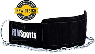 RIMSports Premium Lifting Dip Belt - Best Weight Belt with Chain for Both Men & Women