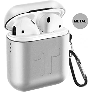 IDweel 2019 Newest AirPods Case with Soft Silicone Inside Skin Black Metal AirPods Case 5 in 1 Airpods Accessories Kits Full Protection Hard Cover for Apple AirPods 2 /& 1