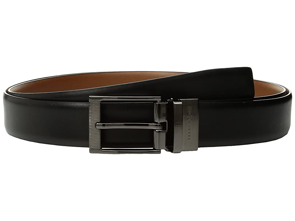 Perry Ellis Portfolio - Perry Ellis Portfolio Etched Buckle Big Tall Reversible Dress Belt