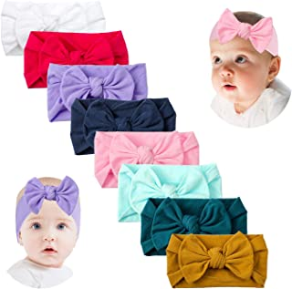 Baby Girl Headbands and Bows Solid Turban Hair Band Toddler Newborn Infant Stretchy Headwear Accessories