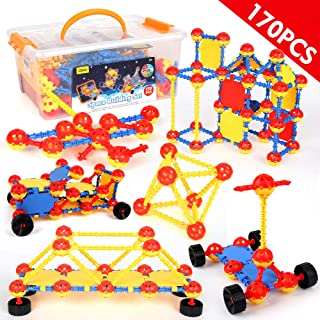 LBLA STEM Building Toy Sets for Boys and Girls Age 3 4 5 6 7 8 9 10 Year Old STEM Learning Toys Creative Fun Educational Construction Engineering Toy Gift for Kids Blocks Game Kit 170 Piece
