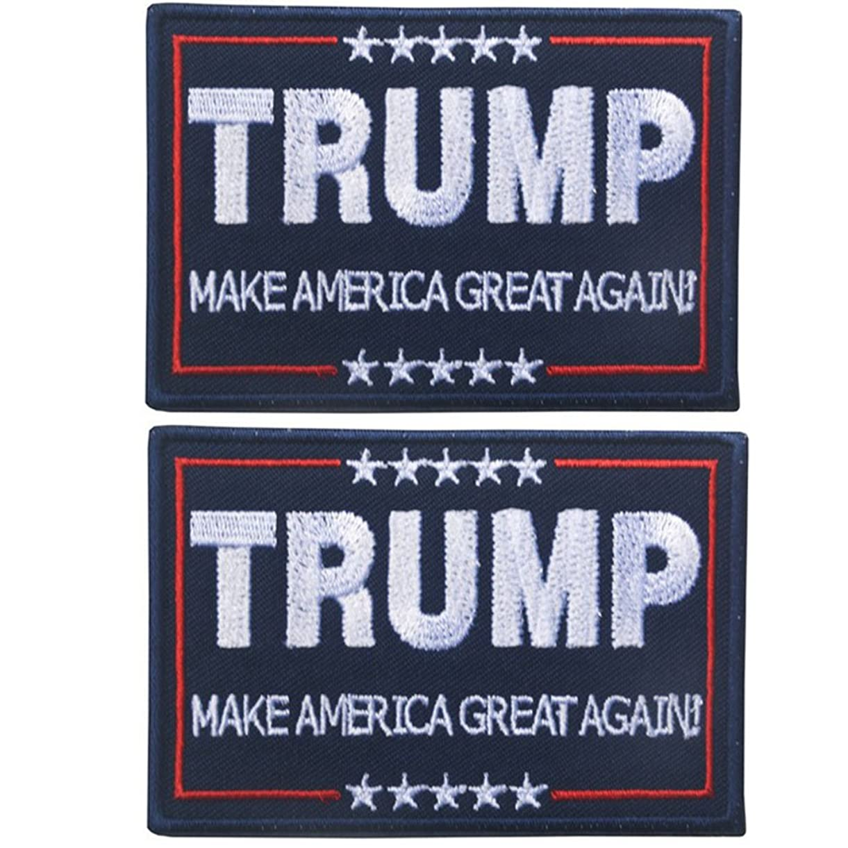 OSdream Bundle 2 pieces - MAKE AMERICA GREAT AGAIN Embroidered Patch (Color 1) mremf3855
