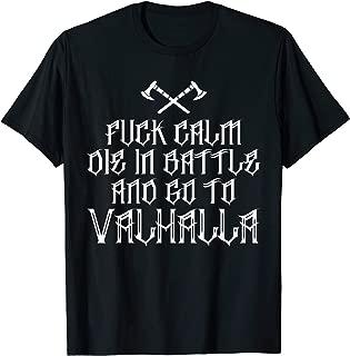 Viking Valhalla T-Shirt - Battle Axes Calm
