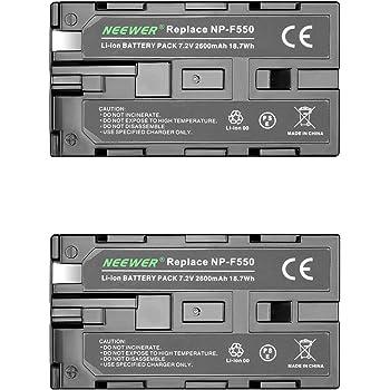 Neewer 2個 2600mAh Sony NP-F550/570/530交換用バッテリー Sony Handycams、Neewer Nanguang CN-160、CN-216、CN-126シリーズと他のNP-F550を使うLEDカメラビデオライトに対応