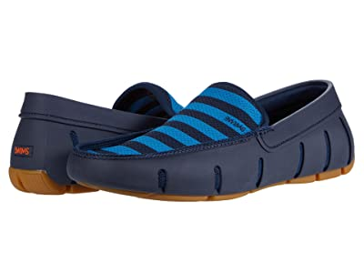 SWIMS Striped Venetian Loafer (Navy/Turkish Tile) Men