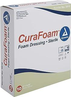 Dynarex Curafoam Foam Dressing, 4 x 4.25 Inch/10 Count