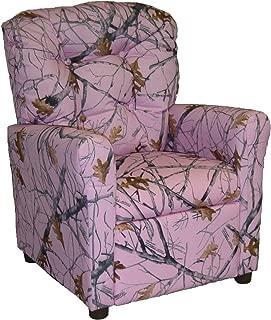 Brazil Furniture Children's Button Back Recliner, Pink