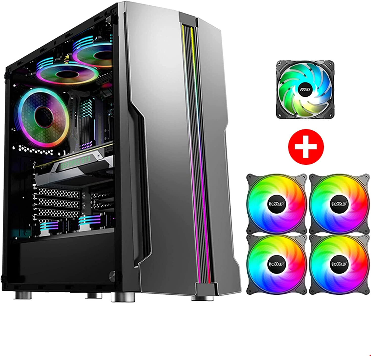 ATX Mid-Tower Case PC Case, Transparent and Side Full quality assurance Large-scale sale Transpa