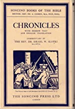 Chronicles Hebrew text and English translation with an introduction and commentary (Soncino Books of the Bible)