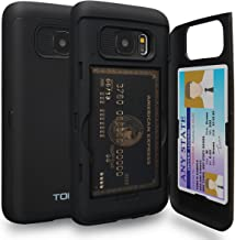 TORU CX PRO Galaxy S7 Wallet Case with Hidden Credit Card Holder ID Slot Hard Cover & Mirror for Samsung Galaxy S7 - Matte...