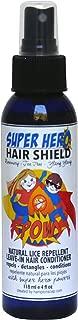 Super Hero Hair Shield - Natural Lice Repellent with Rosemary, Ylang Ylang and Tea Tree Oil