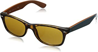 RAY-BAN RB2132 New Wayfarer Sunglasses, Matte Havana/Brown, 52 mm