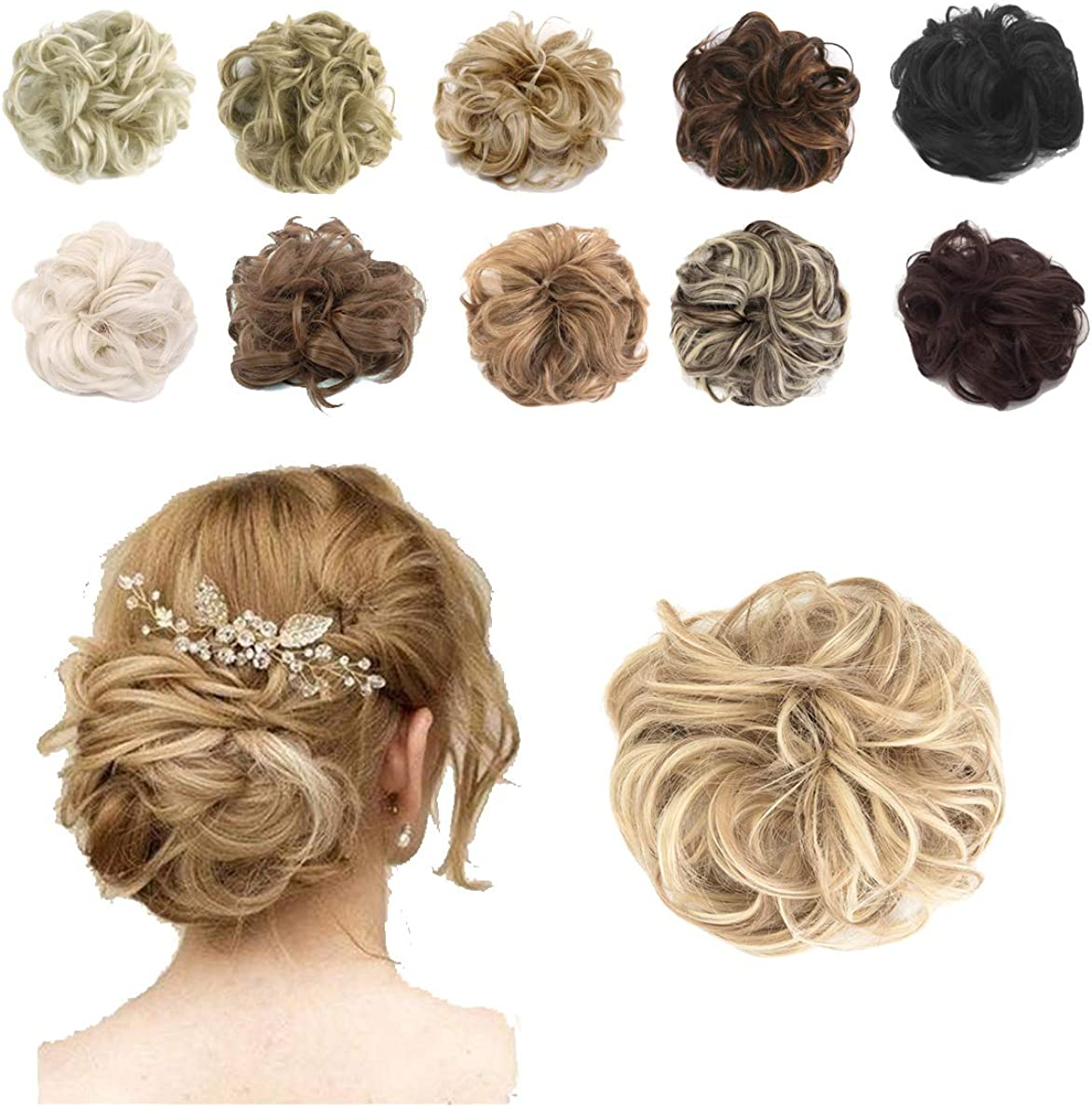 Hioffer Shipping included New product!! Hair Bun Extensions Messy Chignon Hairpiece Synthetic Sc