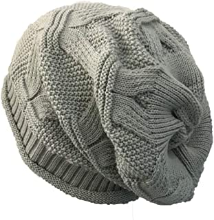 URIBAKE Women's Knitted Beanie Casual Outdoor Hats Crochet Hip-hop Cap Woolen Caps