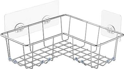 Alise GY200-B SUS 304 Stainless Steel Shower Caddy Bathroom Corner Basket Storage Wall Mount,Matte Black