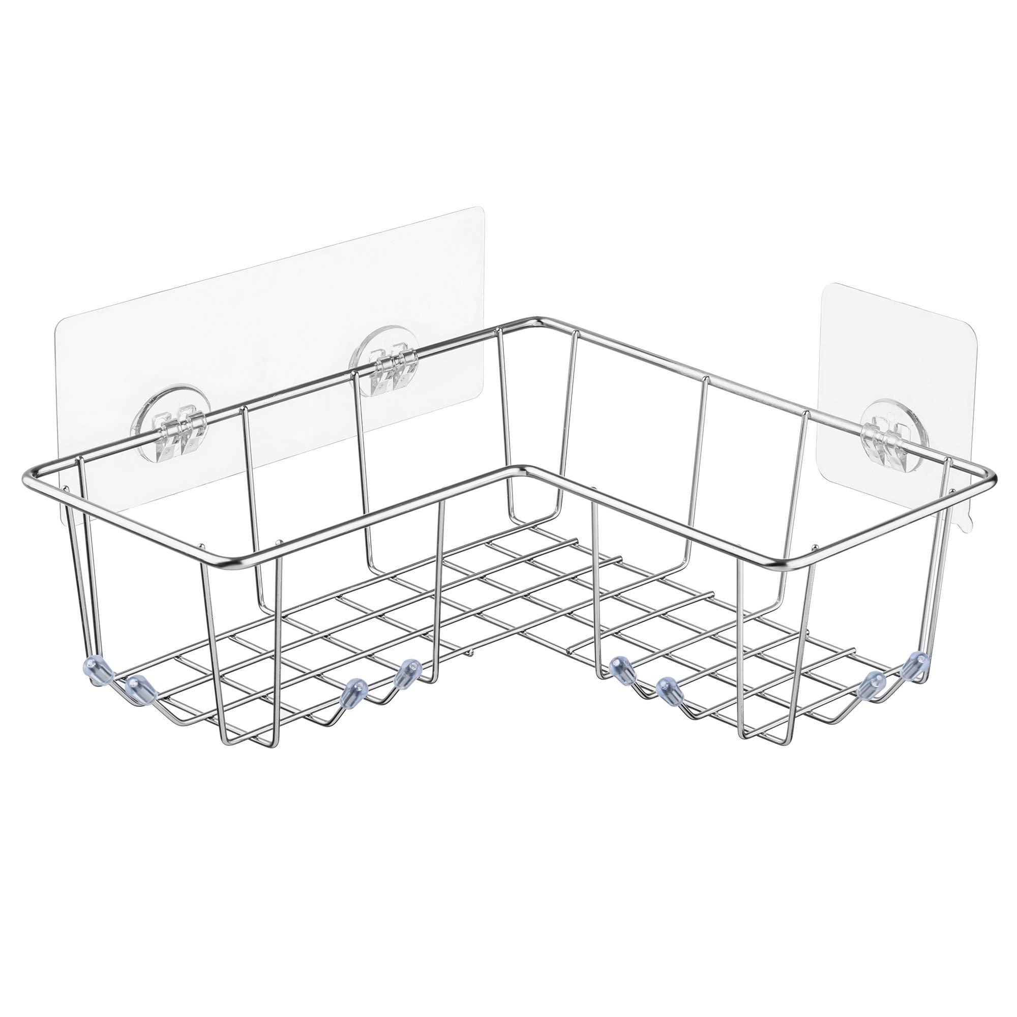 Bathroom Shower Caddy Twist /& Lock Suction Cup Corner Bath Toiletries Storage x3