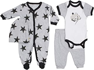 Snugabye Little Boys/' Sleeper Pajama Neutral Bodysuit Zip Back Convertible Toddler Footed PJs