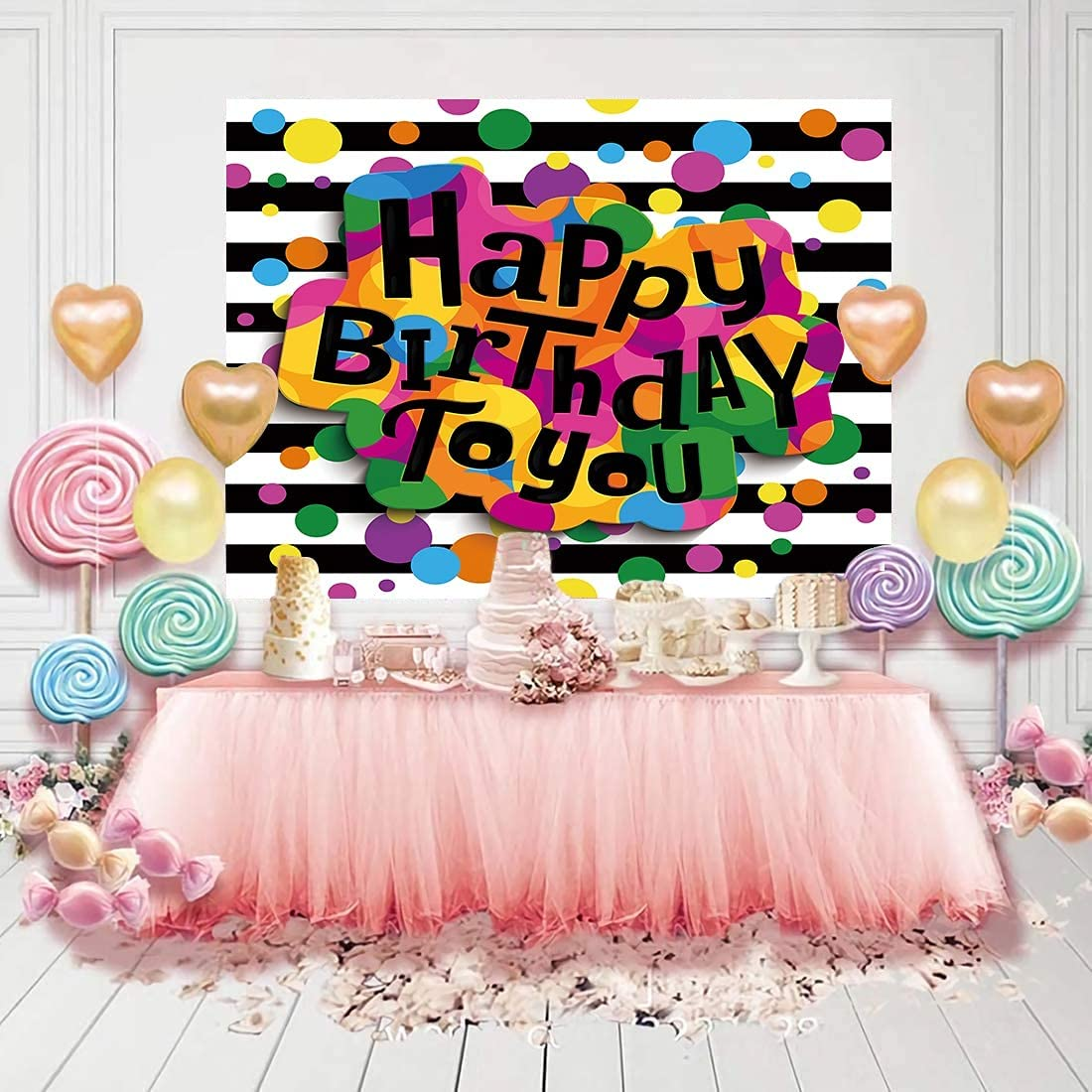 Mzhizhi Happy Birthday Theme Backdrop Some OFFicial mail order reservation Photo Backdrops Photoshoot