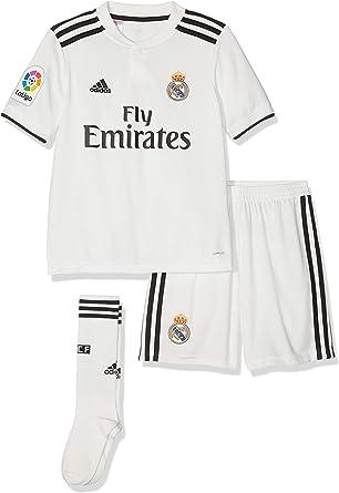 adidas Real Madrid 2018/19 Kids Home La Liga Football Kit Set White