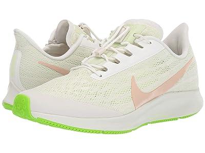 Nike FlyEase Air Zoom Pegasus 36 (Phantom/Bio Beige/Barely Volt) Women