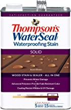 THOMPSONS WATERSEAL TH.043841-16 Solid Waterproofing Stain, Acorn Brown