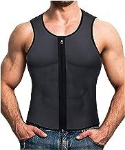 صدرية رجالي للخصر ومدربي الجسم لتنحيف الجسم مزودة بمشد لتمارين اللياقة البدنية مقاس XXL