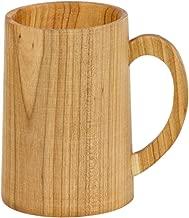 Holz Bierkrung mit Griff 0,4 Liter Holzbecher Bierhumpen Holzbierkrug Becher