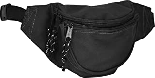 DALIX Small Fanny Pack Waist Pouch S XS Size 24 to 31 in Black