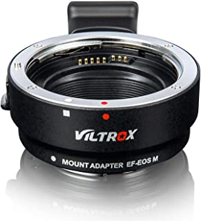 Lens Adapter EF-EOS M Auto-Focus Lens Converter Ring for Canon EF/EF-S Lens to Canon EOS-M (EF-M Mount) Mirrorless Camera ...