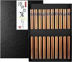 SimpleLife Palillos japoneses Imprimen los Palillos de la chuleta Cortados Cherry Blossoms Wooden Household Vajilla Kitchen Tool l