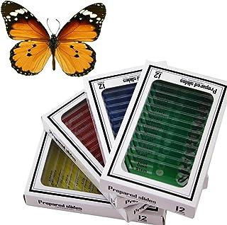 comprar comparacion WhizKidsLab 48pzas Juego Muestras Preparadas Microscopio Animales Insectos Plantas Flores Plástico 1pza Espécimen Mariposa...