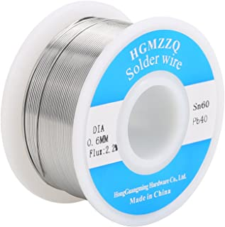 HGMZZQ 60/40 Tin Lead Solder Wire with Rosin for Electrical Soldering 0.023 inch(
