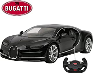 Modern-Depo Licensed Bugatti Chiron RC Car 1/14 Scale Black   Rastar Radio Remote Control Toy Vehicle Sport Racing Car