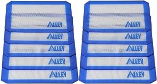 SILICONE ALLEY, 10 Non-Stick Silicone Mat Pad, Small Rectangle 5 X 4 Inch, Blue