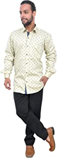 The Mods Men's Casual Whie Color Shirt