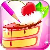 libro da colorare torta dolce