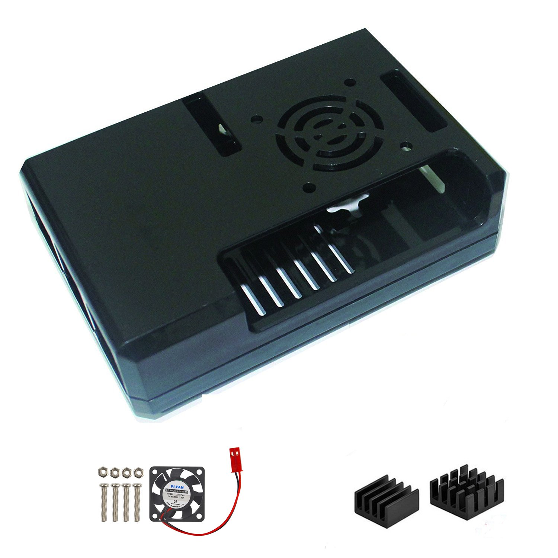 Raspberry Pi 3 ventilador caso, Ownmax mínimo caso cubierta protectora con tornillo para Raspberry Pi 3, Pi 2, Pi ...