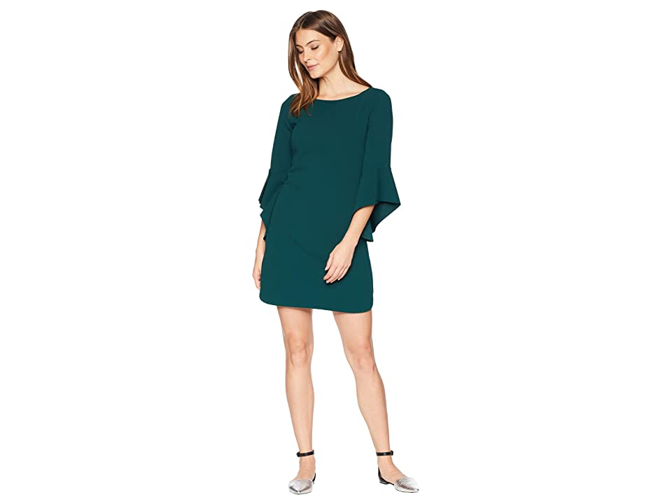 Vince Camuto Circle Sleeve Shift Dress (Hunter) Women