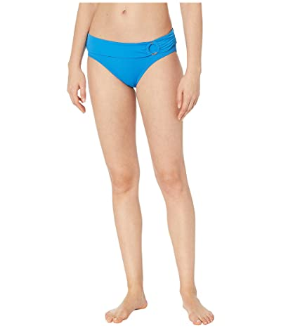 MICHAEL Michael Kors Iconic Solids Logo Ring Bikini Bottoms (Vintage Blue) Women