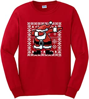 ThisWear Dabbing Santa Claus Ugly Christmas Sweater Themed Long Sleeve T-Shirt
